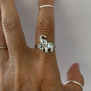 Jewelry - 🐘🐘 NEW 🐘🐘 Sterling Silver Lucky Elephant Ring